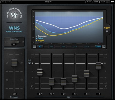 Waves WNS Noise Suppressor Real-time Noise Reduction Plugin WNSTDM