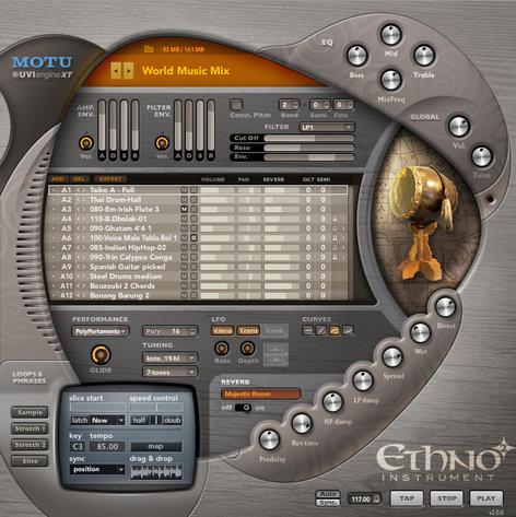 MOTU ETHNO-2 Universal World/Ethnic Virtural Instrument ETHNO-2