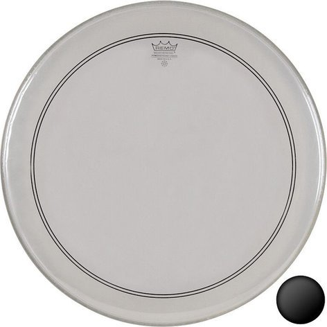 "Remo P3-1320-C2 20"" PowerStroke 3 Clear Bass Drum Head with Falam Patch P3-1320-C2"