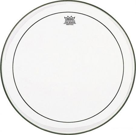 "Remo PS-1322-00 22"" Pinstripe Clear Bass Drum Head PS-1322-00"