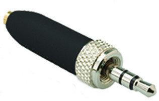 Que Audio DAAD SEL Da Cappo Microphone Adaptor for Sennheiser Compatible Beltpacks, Compact Screw, Black DAADSEL