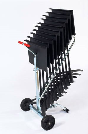 National Public Seating DYMS10  Music Stand Dolly, 10 Stand Capacity DYMS10