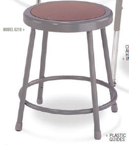 """National Public Seating 6218  Stool, 18"""" with Hardboard Seat 6218"""