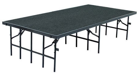 "National Public Seating S3632C Stage with Carpeted Surface, 36""x96""x32"" S3632C"