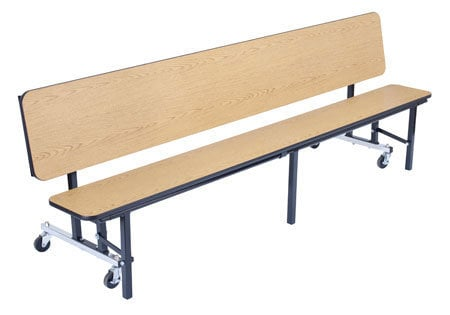 National Public Seating CB96PW Bench Unit, Plywood Top with Bench, 8ft CB96PW