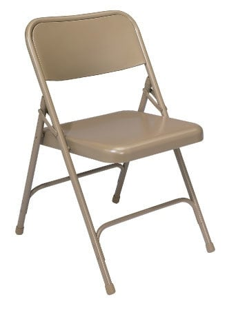 National Public Seating 201 Steel Folding Chair (Beige) 201-NPS