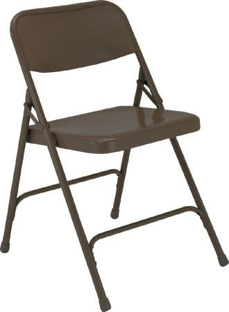 National Public Seating 203 Steel Folding Chair (Brown) 203-NPS