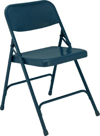 National Public Seating 204 Steel Folding Chair (Blue) 204-NPS