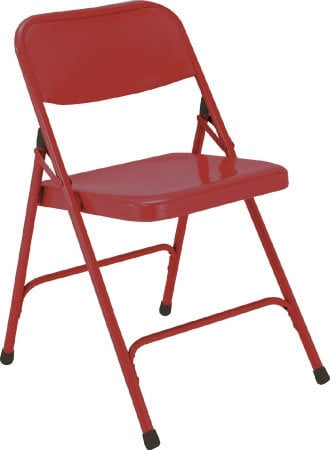National Public Seating 240 Steel Folding Chair (Red) 240-NPS