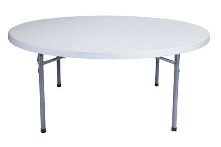 """National Public Seating BT71R 71"""" Round Table with Folding Legs BT-71R"""