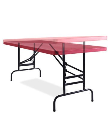 "National Public Seating BTA3072-40 Table, Adjustable, 30""x72""x1.75"", Red BTA-3072-40"