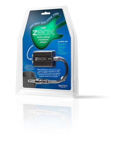 MOTU ZBox Guitar Pickup Impedance Adapter ZBOX