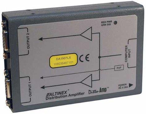 Altinex DA1907LX VGA Distribution Amplifier, 1-In 2-Out DA1907LX