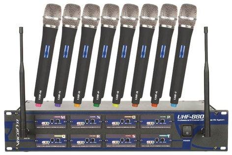 VocoPro UHF-8800 UHF Wireless Mic System, 8 Channel UHF-8800