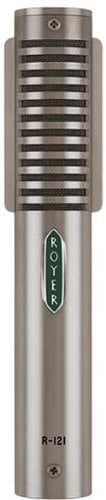 Royer Labs R121-MP  1 Matched Pair of Mono Ribbon Velocity Studio Microphones (in Dull Nickel Finish) R121-MP