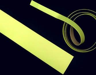 "Rose Brand GLOWTAPE-1/2"" 10 Yard Roll of 1/2"" W Luminescent Yellow Glow Tape GLOWTAPE-1/2"""
