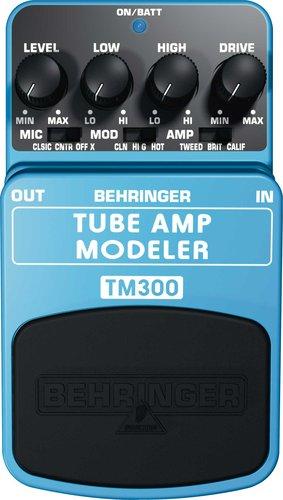 Behringer Tube Modeler TM300 Tube Amp Modeler Guitar Pedal TM300-TUBE-MODELER