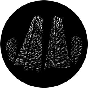Rosco Laboratories 79025-ROSCO NYC Twin Towers Gobo 79025-ROSCO