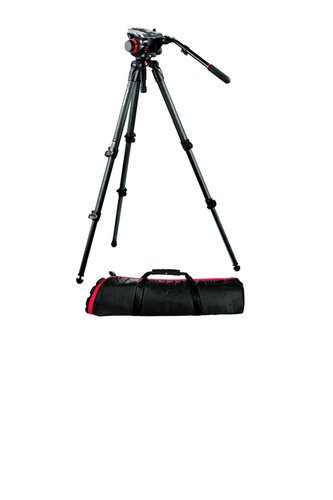 Manfrotto 504HD,535K Midi Carbon Fiber System with 504HD Head and 535 Tripod 504HD,535K