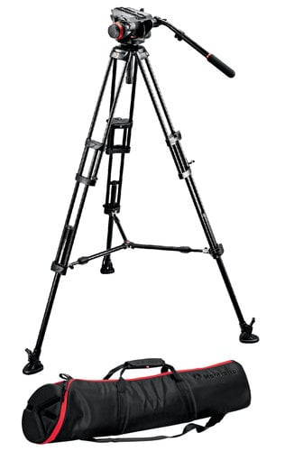 Manfrotto 504HD,546BK Midi Twin System with 504HD Head and 546BK Tripod with Mid-Level Spreader 504HD,546BK