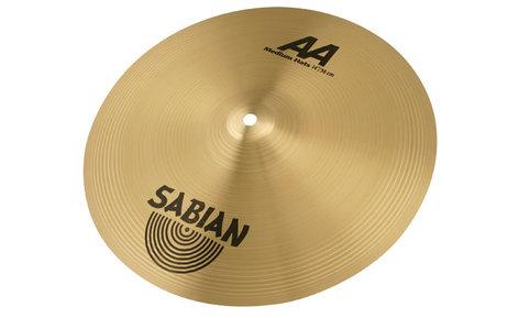 "Sabian 21402 14"" AA Medium Hi-Hat Cymbals in Natural Finish 21402"