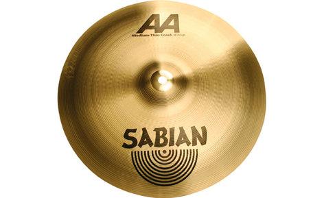 "Sabian 21607 16"" AA Medium Thin Crash Cymbal in Natural Finish 21607"