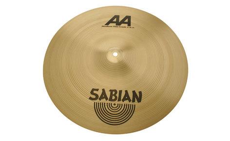 "Sabian 21807 18"" AA Medium Thin Crash Cymbal in Natural Finish 21807"