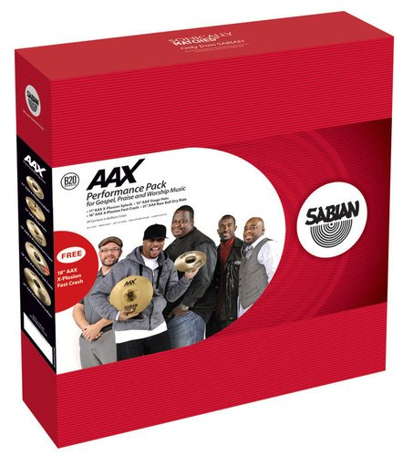 Sabian PW1 AAX Performance Pack for Gospel, Praise & Worship Music in Natural Finish PW1