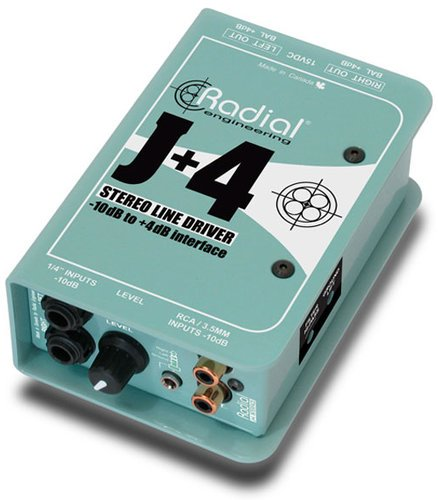 Radial Engineering J+4 Active Stereo Interface J+4
