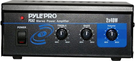 Pyle Pro PCA2 2x40W Stereo Power Amplifier (2x8W 1% THD) PCA2-PYLE