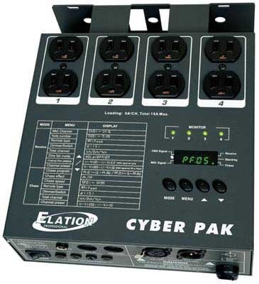 Elation Pro Lighting CYBER-PACK Dimmer/Power Pack, 4 Channel, 20 Amp Total CYBER-PACK