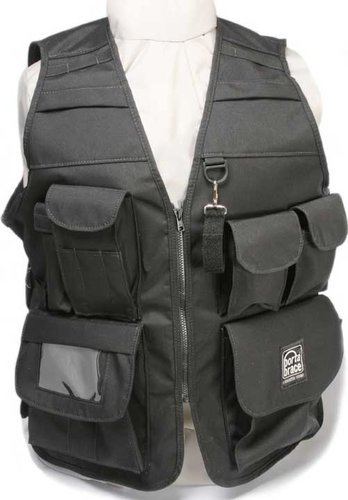 Porta-Brace VV-LBL  Large Video Vest (Size 42, Black) VV-LBL