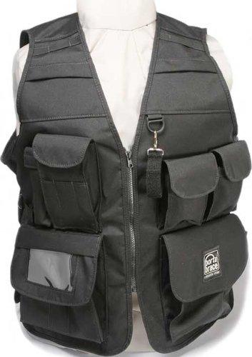 Porta-Brace VV-XLBL  Extra-Large Video Vest (Size 46, Black) VV-XLBL