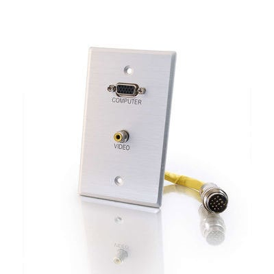 Cables To Go 42332 Wall Plate, HD15, Composite 42332