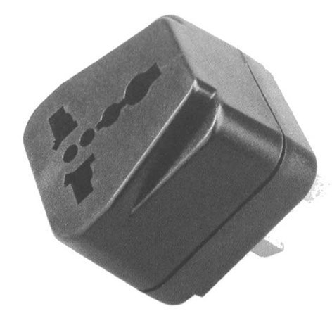 Philmore 48-545 2 Flat Pin Plug/Universal Socket AC Power Adapter 48-545