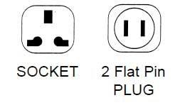 Philmore 48-545 2 Flat Pin Plug/Universal Socket AC Power Adapter 48-545