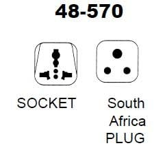 Philmore 48-570  South Africa Plug/Universal Socket AC Power Adapter 48-570
