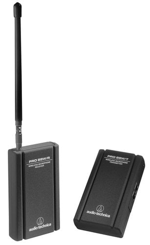 Audio-Technica PRO 88W-829 Wireless Microphone System for Camcorder with AT829mW Miniature Cardioid Clip-on Mic PRO88W/AT829MW