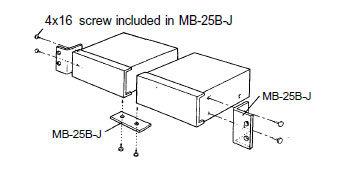 TOA MB25B-J Rack kit for BG series, dual mount MB25B-J