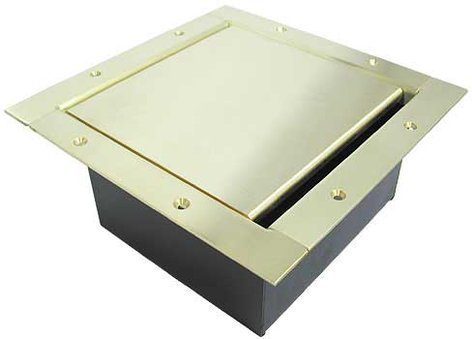 Ace Backstage 222SLBR Full Stage Pocket, Standard Solid Brass Lid and Trim Bezel with Brushed Finish 222SLBR