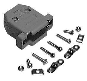 Philmore DT9B Black Plastic Hood for DB-9 Connector (with Hardware) DT9B