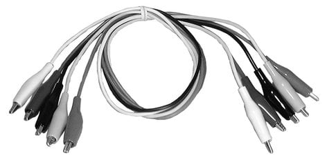 Philmore SA44 Set of 5 Heavy Duty Jumper Cables (with Alligator Clip Ends) SA44-PHILMORE