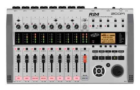 Zoom R24 24-track Recorder, USB Audio Interface, DAW Control Surface And  Pad Sampler