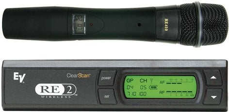 Electro-Voice RE2-510 Handheld Wireless Mic System w/RE510 Supercardioid Condenser Element (Shown with RE410) RE2-510