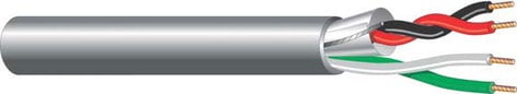 West Penn 356 1000 ft of 4-Conductor Wire - 2 Shielded , 2 Unshielded 356-1000