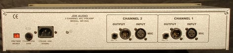 JDK Audio R20 Microphone Preamp,  Dual Channel R20-JDK