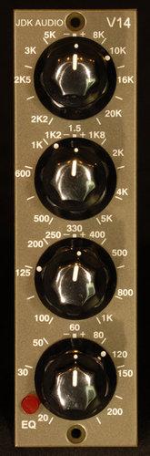 JDK Audio V14 Equalizer, 500 Series, 4-band, single channel V14-JDK
