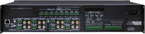 Ashly PEMA4125.70C Power Amplifier, 4x125W @ 70V, w/8x8 DSP Matrix, CobraNet Added PEMA4125.70C
