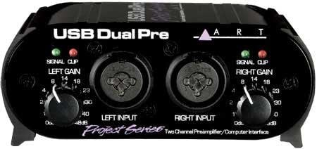 ART USB Dual Pre PS Project Series 2-Channel USB Microphone Preamp USB-DUAL-PRE-PROJECT