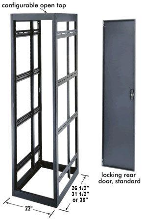 "Middle Atlantic Products MRK-4036  40-Space, 36"" D Rack (with Black Rear Door) MRK-4036"